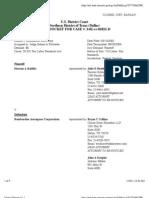BADILLA v. BOMBARDIER AERO CORP Docket