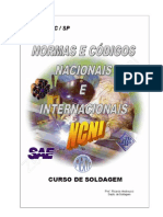 NORMAS E CÓDIGOS NACIONAIS E INTERNACIONAIS SOLDAGEM