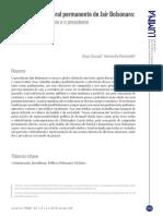 A campanha eleitoral permanente de Jair Bolsonaro O deputado, o candidato e o presidente