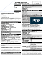 Defend Alginate Substitute- Mint MSDS 1-1-2011