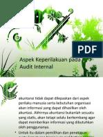 10. Aspek Perilaku Dalam Audit Internal