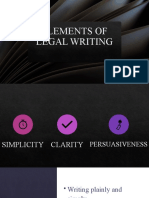 Elements of Legal Writing