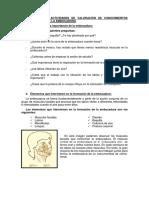 CUESTIONARIO DE ACTIVIDADES DE VALORACIÓN DE CONOCIMIENTOS PREVIOS ACERCA DE LA EMBOCADURA