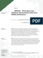 6LoWPAN - IPv6 dans les réseaux personnels sans fil à faible puissance