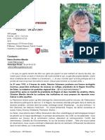Marie-Christine Blandin - La Restitution - Dossier de presse