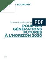 Construire Le Monde Positif Que Nous Voulons Pour Les Générations Futures à Lhorizon 2030. Planche DEF