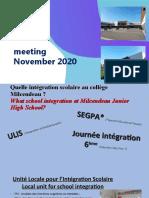 Milcendeau Intégration scolaires Erasmus2020