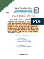 INFORME TECNICO-PROFESIONAL