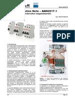 Dimensionamento interruttori magnetotermici   nb