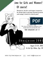 Shoujocon 2003 flyer 2