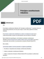 Princípios constitucionais tributários