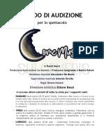 Bando Di Audizione Come Musica (PDF)