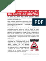 Contra Privatização da Linha de Sintra