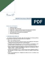Tema 17. Deontologia profesional