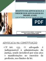 ETICA ESTATUTO DA OAB 2020 AULA 2