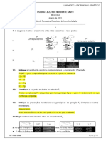 Ficha formativa Hereditariedade