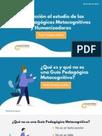 Introducción al estudio de las Guías Pedagógicas Metacognitivas y Humanizadoras