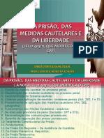 TEMA _MEDIDAS CAUTELARES _PRISÃO E LIBERDADE 2019