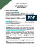 Comunicado Trabajo de Grado 2019-30 -Detalles Del Proceso