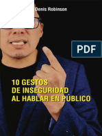10 Gestos de Inseguridad Al Hablar en Público