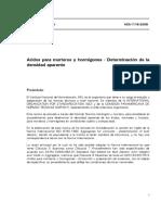 NCh01116-2008-046 DETERMINACION DE LA DENSIDAD APARENTE SUELTA Y COMPACTADA