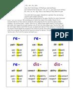 Lesson 32a, Prefix and Suffix Game, Happy Families