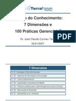 Sete Dimensões da GC e 100 práticas