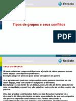 Tipos de grupos e seus conflitoss