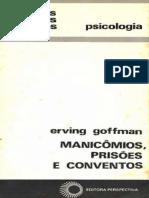 Goffman, 1961. Manicômios, prisões e conventos