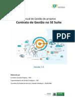 Manual de gestão de projetos - Contrato de Gestão no SE Suíte - Versão 1.0