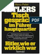 Hitlers Tischgespraeche