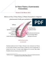 Armonías de Vinos Tintos y Armonías con Gastronomía Venezolana