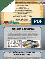 PRESENTACION DE MATERIA Y LOS MINERALES