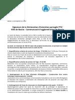 Communiqué Ville de Bastia / Communauté d'Agglomération de Bastia