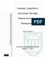 Gaining Competitive Advantage through Human Resources Mgmt