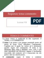 SEQUENZE TEMA-COMMENTO