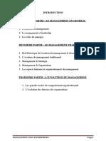 Cours de Management