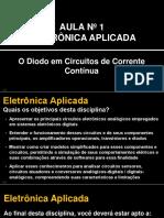 Eletrônica Aplicada Sem01 - Slides Aula 01 - O diodo em circuitos de corrente contínua