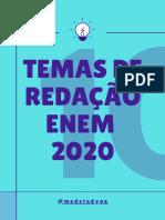 E-BOOK GRATUITO 10 TEMAS DE REDAÇÃO ENEM
