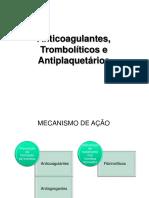 Anticoagulantes, Antitrombóticos e Trombolíticos 1