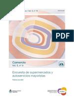 Encuesta de supermercados y autoservicios mayoristas, febrero 2021, INDEC.