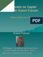 O Conceito de Capital Social de Robert Putnam