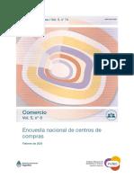 Encuesta nacional de centros de compras, febrero 2021. INDEC.