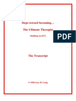 EFT - Steps towards becoming the ultimate thera