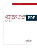 Infor Worktop 25 Administrator's Guide