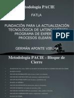 Metodología PACIE - Bloque de Cierre