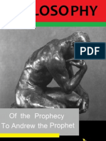 Philosophy of the Prophecy
