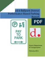 DRAFT 2010 Ward 6 Ballpark District Performance Based Parking Report (FINAL)