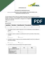 Autoevaluación salud para ingreso a instalaciones Pidemonte