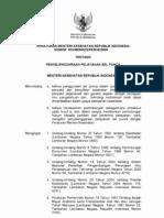 PMK No. 833 ttg Penyelenggaraan Pelayanan Sel Punca